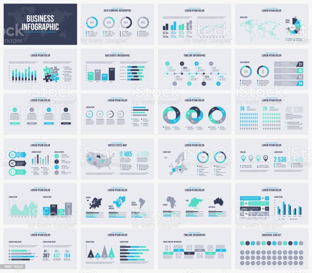 Multipurpose presentation vector template infographic. - illustrazione arte vettoriale