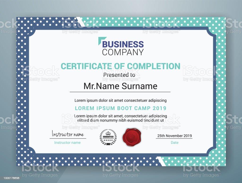 Multipurpose Professional Certificate Template Design For Print