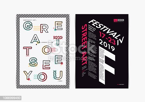 Multipurpose typography poster layout template. Vector illustration.