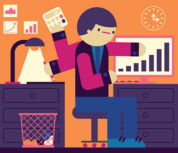 multitask - small business owner stock illustrations