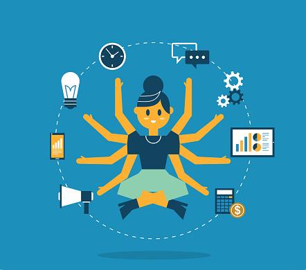 Multitasking - Businesswoman