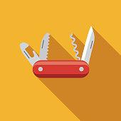 istock Multi-Tool Flat Design Craft Supplies Icon 1075154360