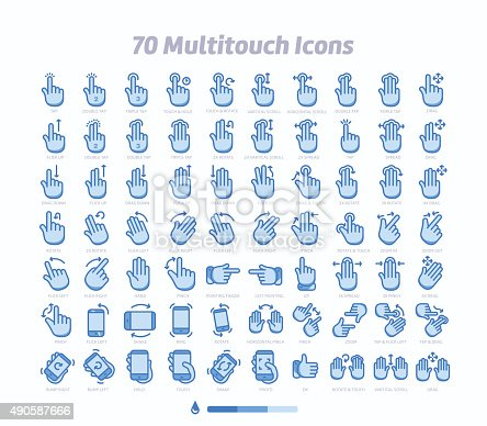 istock Multitouch gesture icons 490587666