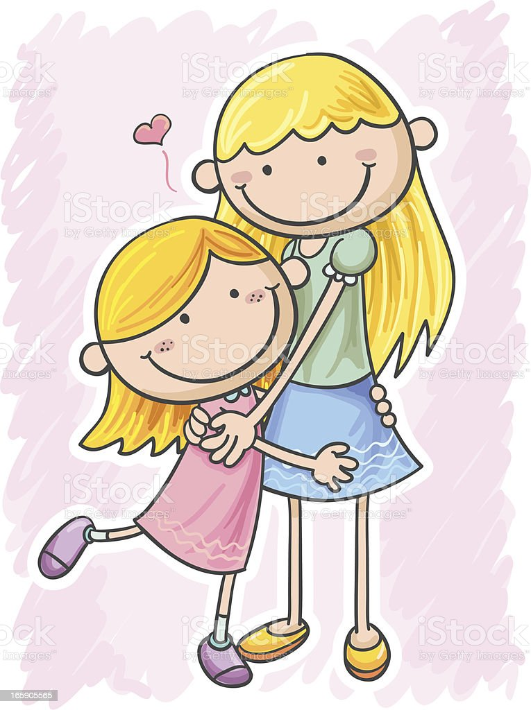Mum and daughter royalty-free mum and daughter stock vector art & more images of adult