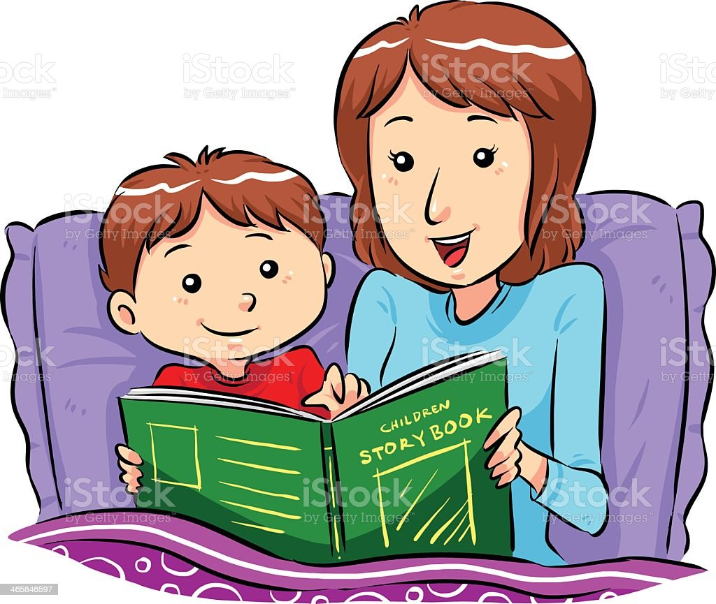 royalty free reading in bed clip art vector images illustrations rh istockphoto com bedtime clipart free bedtime clipart free