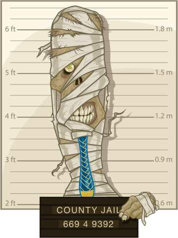 Mummy Mug Shot Stock Illustration - Download Image Now