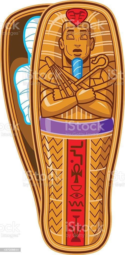 Mummy Sarcophagus vector art illustration