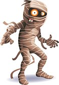 A funny mummy isolated on white. EPS 8, fully editable and labeled in layers.