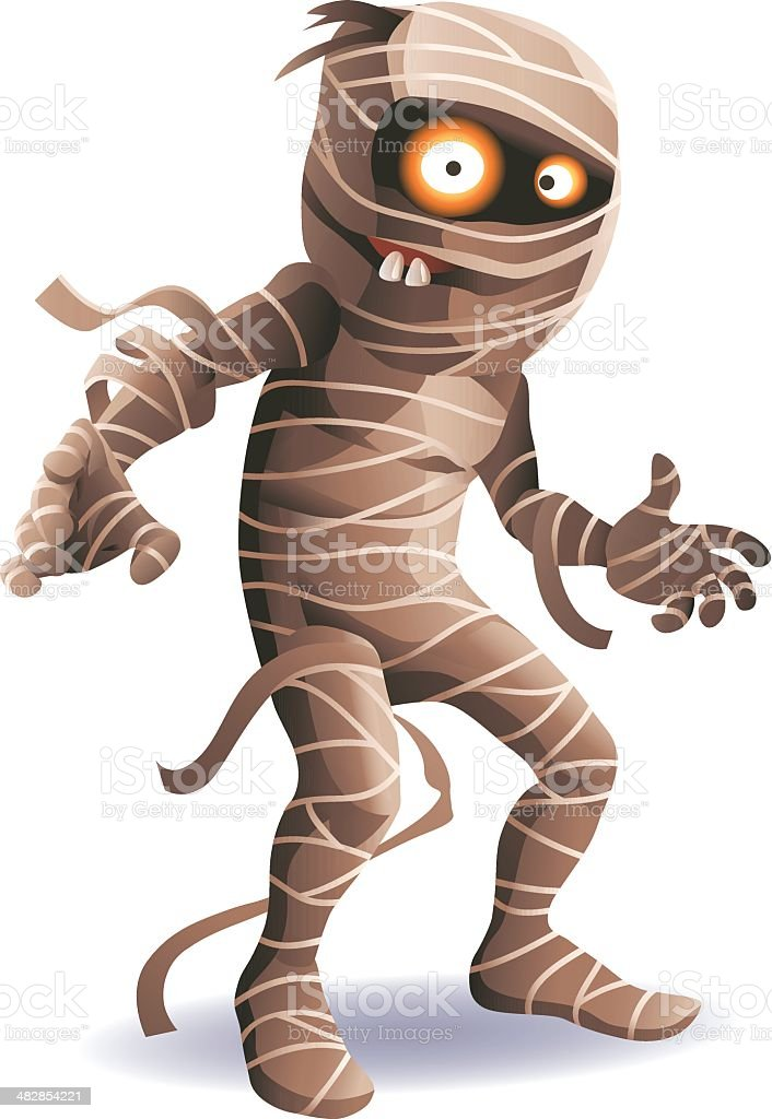 Mummy vector art illustration