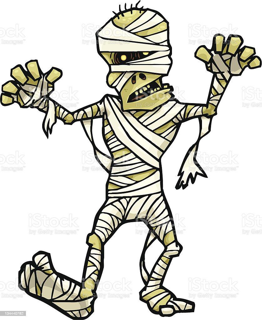 Mummy Walk - Royalty-free Ancient stock vector