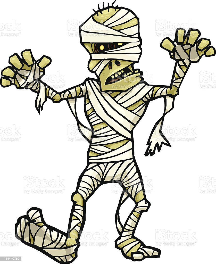 Mummy Walk vector art illustration