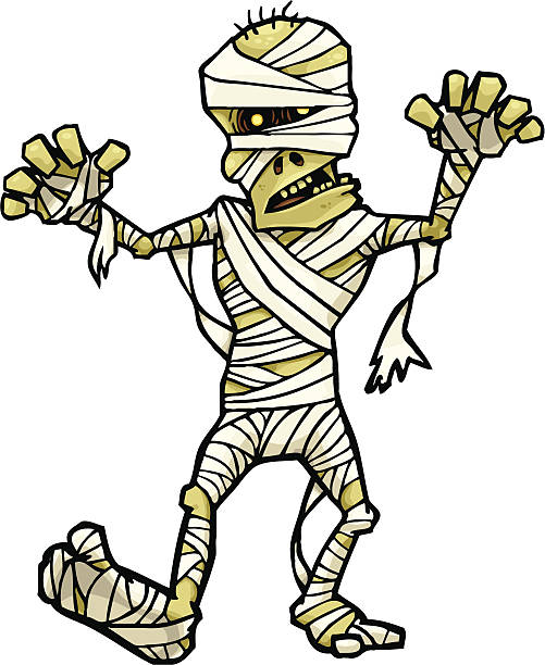 Mummy Walk vector art illustration