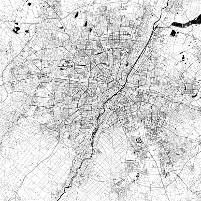 Munich, Germany Vector Map