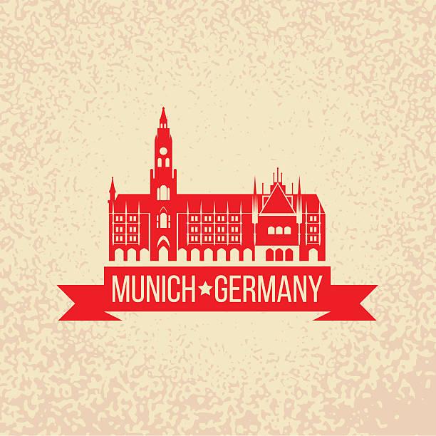 illustrazioni stock, clip art, cartoni animati e icone di tendenza di monaco, capitale della baviera, dalla germania - marienplatz