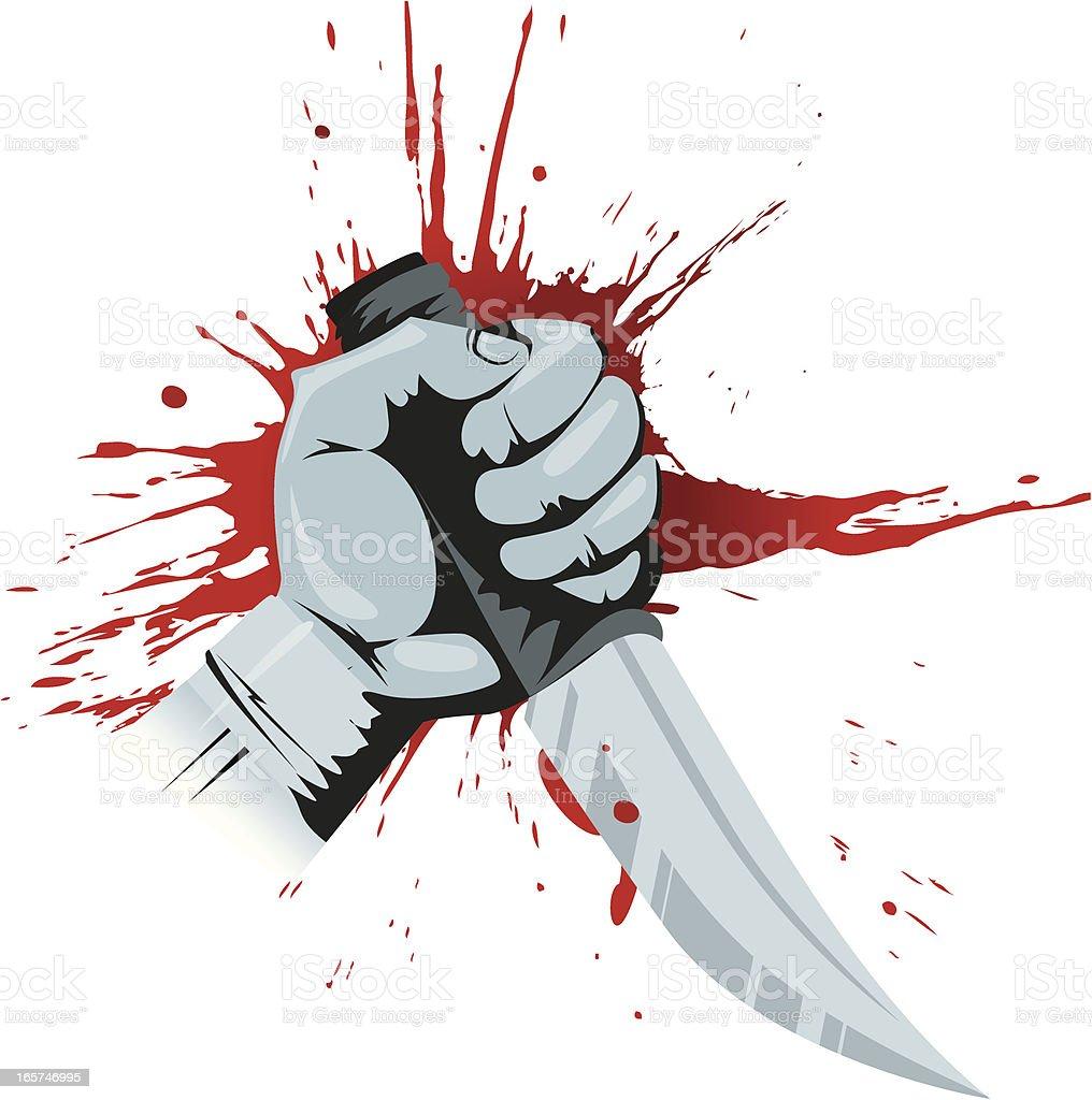 Murder royalty-free stock vector art