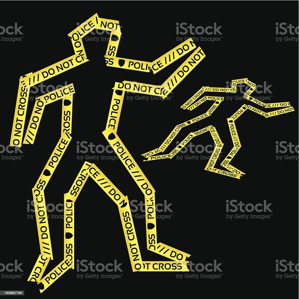 Murder victim (1 credit) vector art illustration
