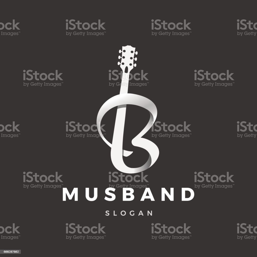 musband logo vector art illustration