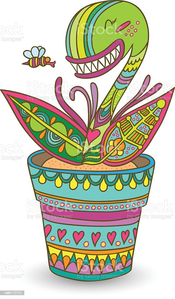 Muscipula flower royalty-free muscipula flower stock vector art & more images of abstract