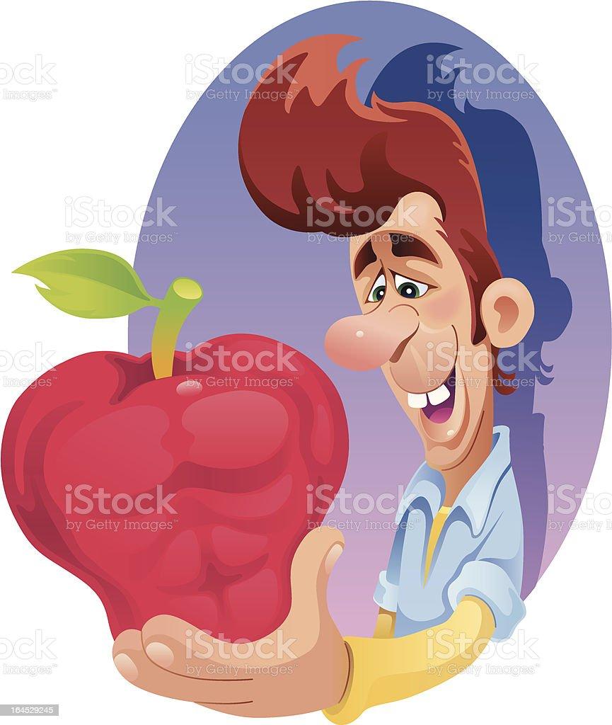 musclar apple - Royaltyfri Body building vektorgrafik