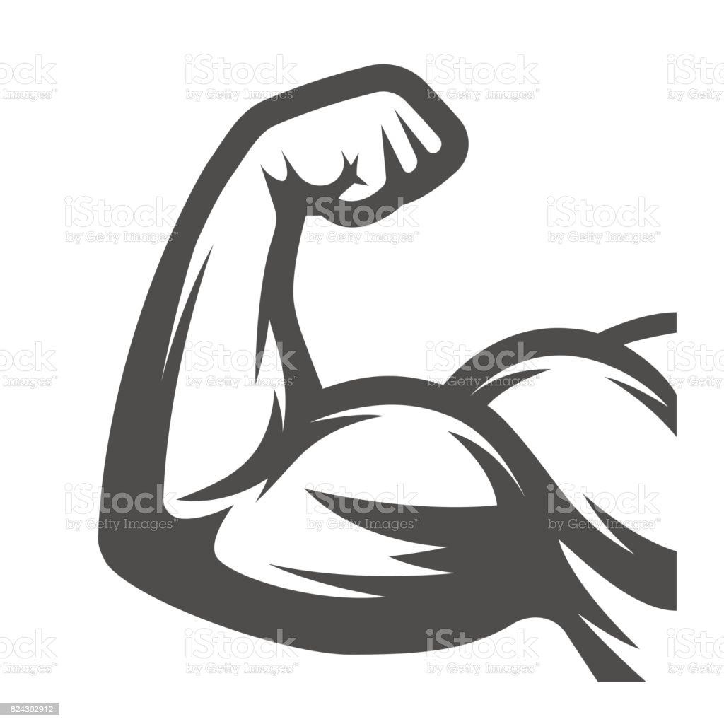 Armoiries de muscle. Biceps - Illustration vectorielle