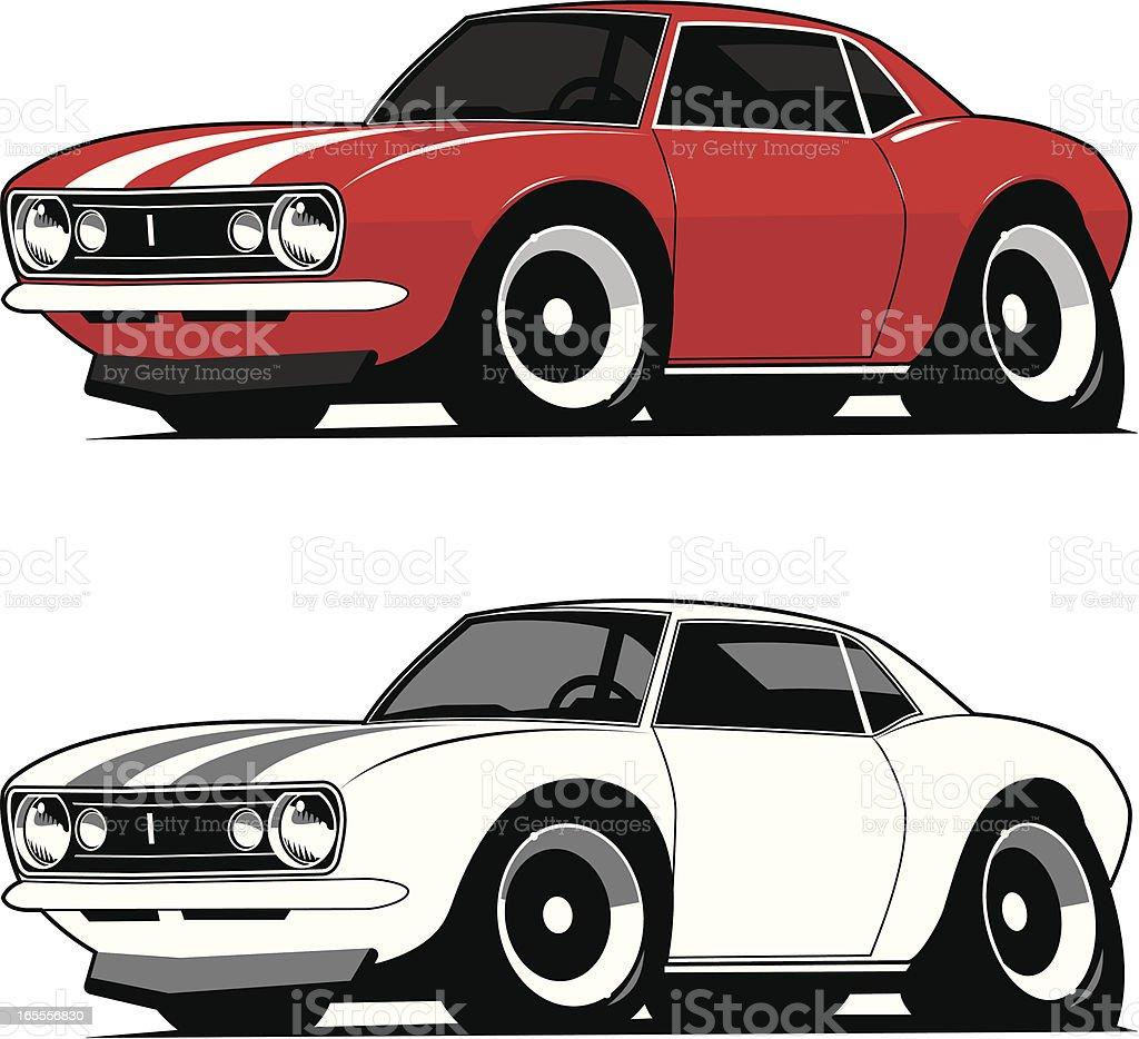 Muscle Car 1967 vector art illustration