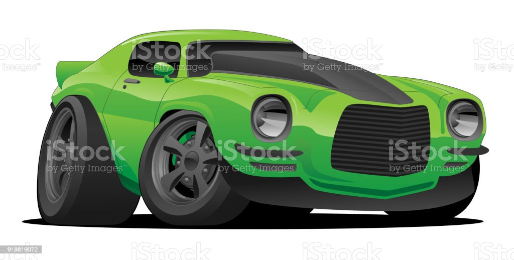 Muscle Car Cartoon Illustration Stock Vector Art More Images Of