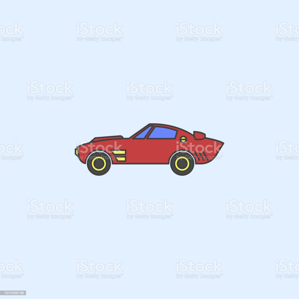 Muscle Car Field Outline Icon Element Of Monster Trucks Show Icon
