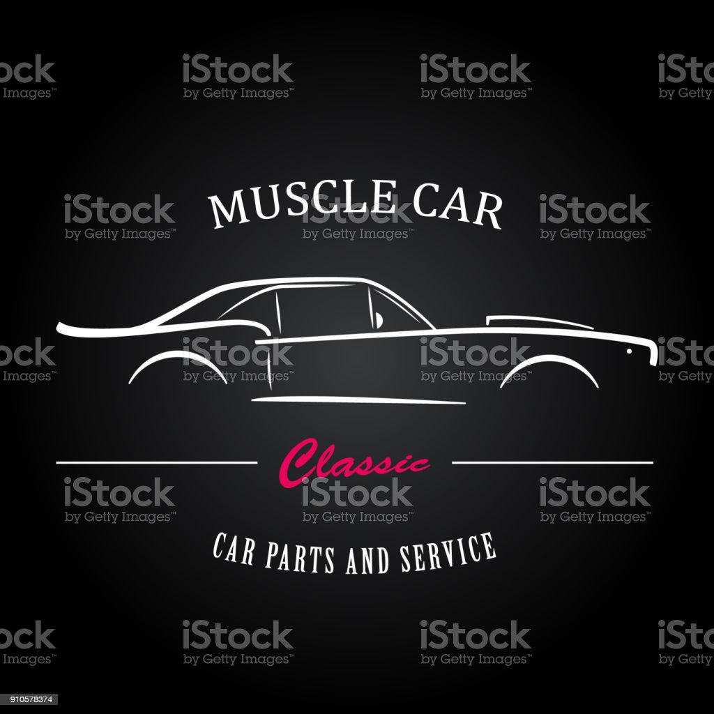 Muscle Car Silhouette Stock Vector Art More Images Of Art