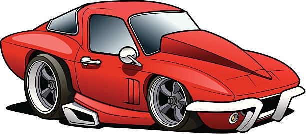 Muscle Car vector art illustration