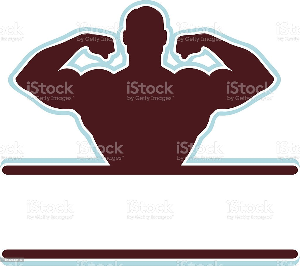Muscle Flex Banner vector art illustration