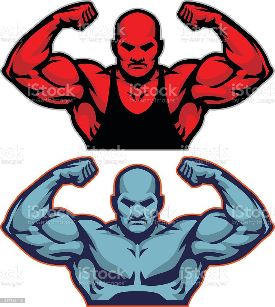 Muscle Man Power vector art illustration