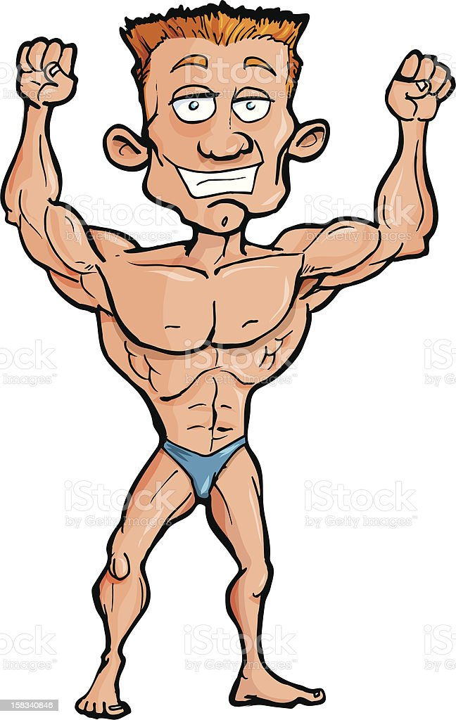 muscle man stock vector art more images of abdominal muscle rh istockphoto com  free clip art muscle man silhouette