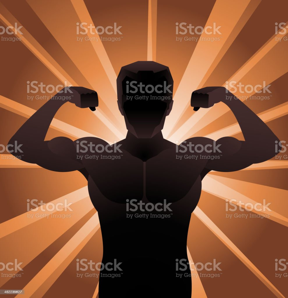 muscle power silhouette royalty-free stock vector art