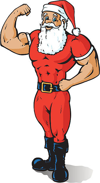 Image result for muscle santa