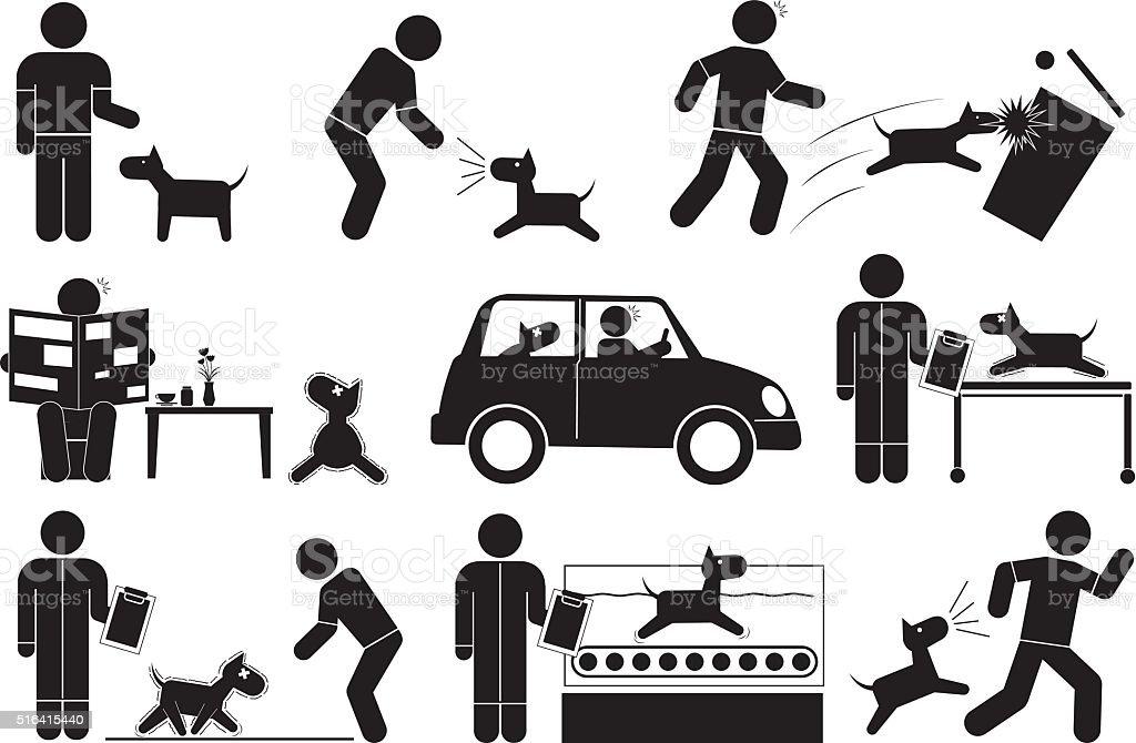 Muskel Schwäche Hund Lizenzfreies Vektor Illustration