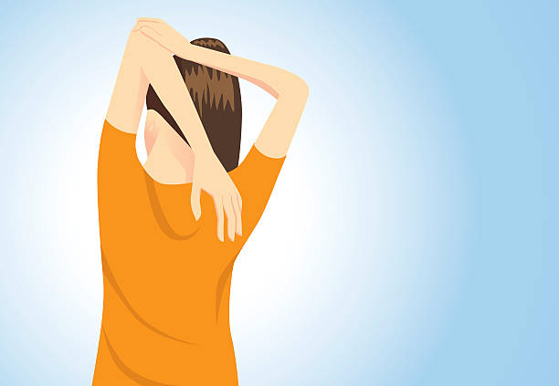 ilustrações de stock, clip art, desenhos animados e ícones de músculos aumentar a postura - tronco nu