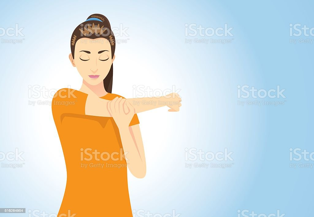 Muscles stretching posture vector art illustration