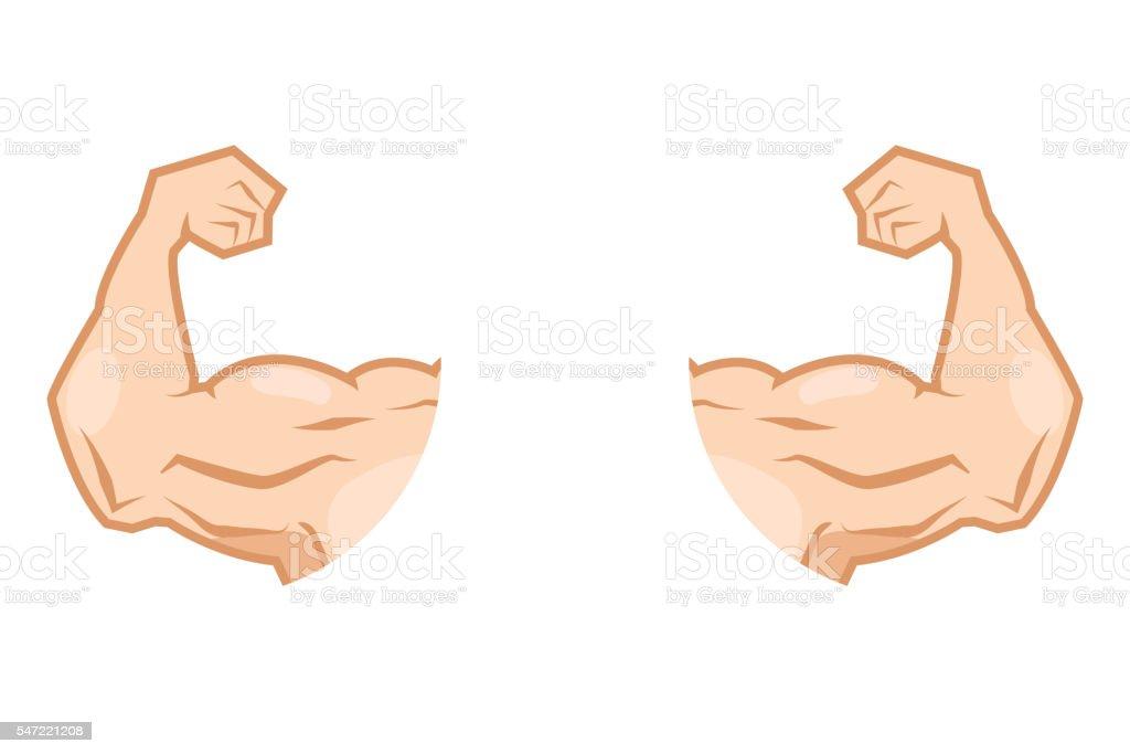Muskeln Arm Stock Vektor Art und mehr Bilder von Autorität 547221208 ...
