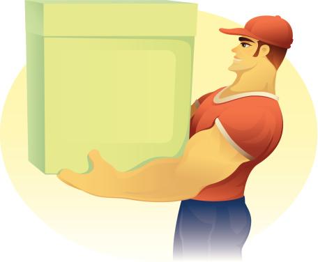Muscular Carrier-vektorgrafik och fler bilder på Bära
