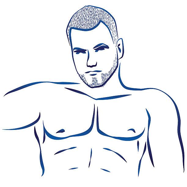 ilustrações de stock, clip art, desenhos animados e ícones de bloco torso muscular - tronco nu