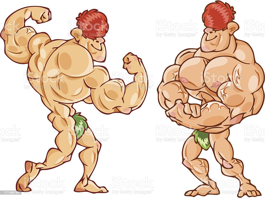 Muscular man royalty-free muscular man stock vector art & more images of abdominal muscle