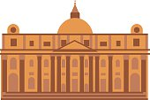 Museum building vector illustration.