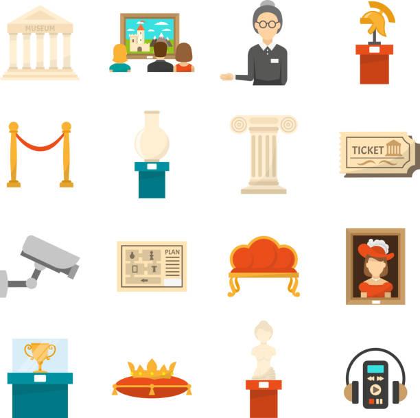 illustrations, cliparts, dessins animés et icônes de icône de musée - museum