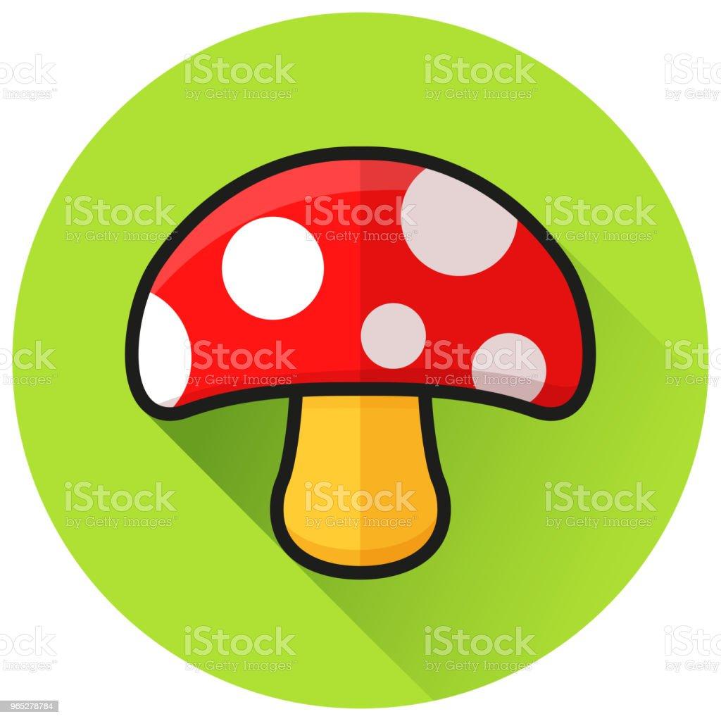 mushroom circle green flat icon mushroom circle green flat icon - stockowe grafiki wektorowe i więcej obrazów bez ludzi royalty-free