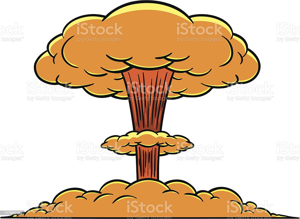 royalty free mushroom cloud clip art vector images illustrations rh istockphoto com Mushroom Cloud Skull mushroom cloud clip art free