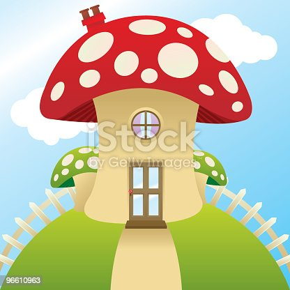 A quaint little mushroom house.