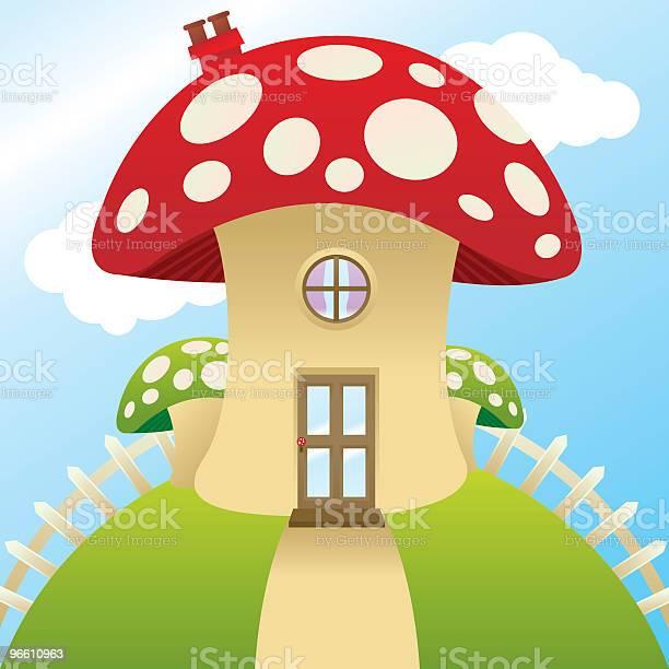 Гриб Cottage — стоковая векторная графика и другие изображения на тему Ядовитый гриб