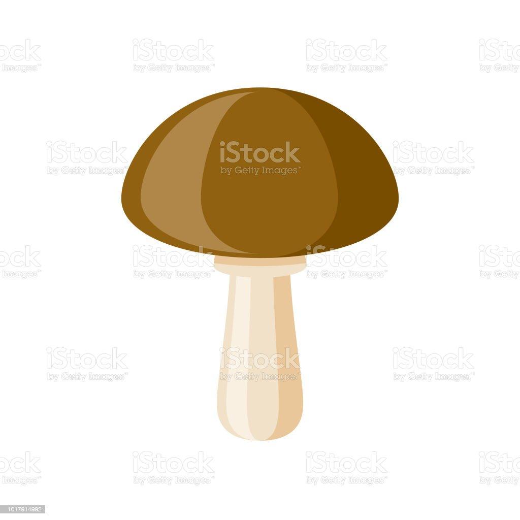 Mushroom Flat Design Vegetable Icon vector art illustration