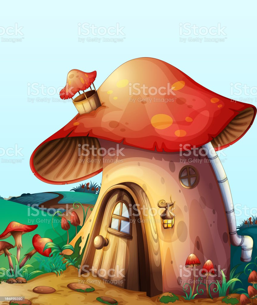 Mushroom house royalty-free stock vector art