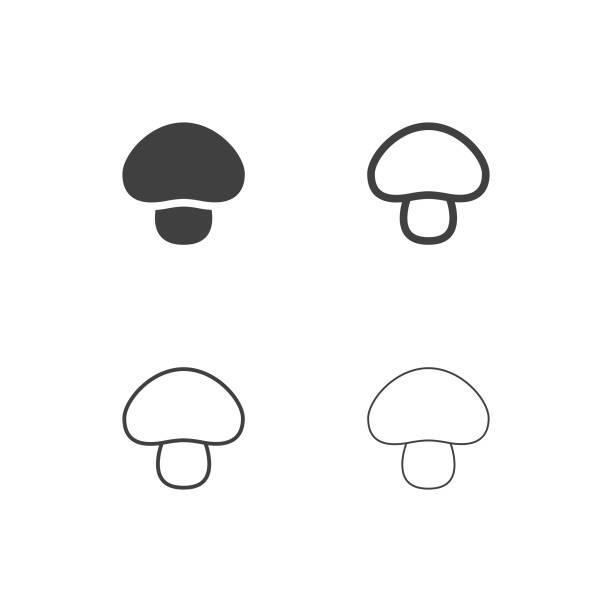 버섯 아이콘-멀티 시리즈 - 버섯 stock illustrations